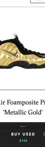 Gold and black foamposites size 6.0